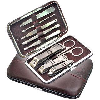 9 in 1 Nail Art Clipper Pedicure Manicure Tweezer Cutter Earpick Tool Set Kit 04
