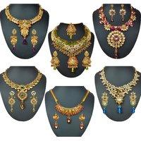 Kriaa Kirti 6 Pc Jewellery Set Combo - 10002-03