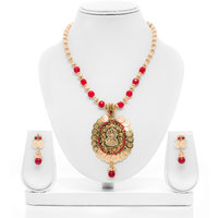 Senorita Traditional Necklace Set JVPS2 With Goddess Lakshmi Pendant And Antique