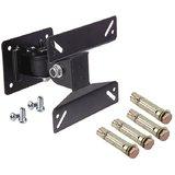 Techvik Safe Secure Heavy Movable Wall Bracket Kit For 10 24 LED LCD Plasma TFT Monitor Screen Articulating TV Mount