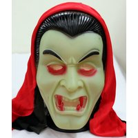 Dracula Camouflage Face Mask Cosplay For Party (Red & Black Hood)
