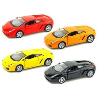 Set Of 4 Lamborghini Murcielago Metal Model Cars With Opening Doors