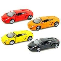 Set Of 4 Lamborghini Murcielago Metal Model Cars With Opening Doors