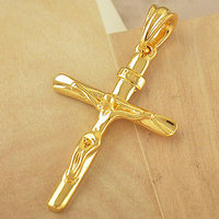 22CT Pure Gold Coated Cross + Free Gold Chain At Lowest Price In India - 6140404