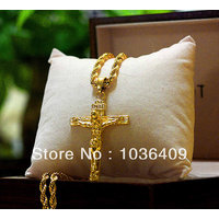 22CT Pure Gold Coated Cross + Free Gold Chain At Lowest Price In India - 6140982