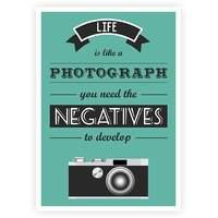 Life Is Like A Photographs Life Inspirational Quotes Poster