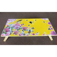Portable Wooden Yellow Folding Laptop Table For Multipurpose Use
