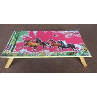 Portable Wooden Pink Folding Laptop Table For Multipurpose Use