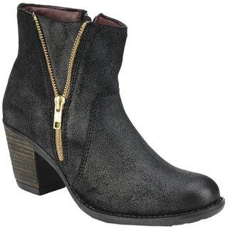 Delize Trendy Black Womens Footwear