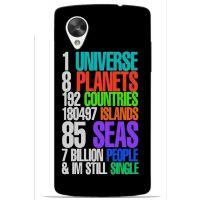 Saledart Lg Google Nexus 5 Back Case And Cover Black & Multi-Colour Lgn5M9Y14DC27