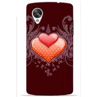 Saledart Lg Google Nexus 5 Back Case And Cover Red & Multi-Colour Lgn5M9Y14DC48