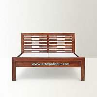 Double Beds In Sheesham Wood Home Furniture Online - 6158200