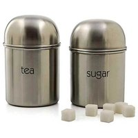 Stainless Steel Tea, Sugar Canisters.. Nice Item For Gift Purpose