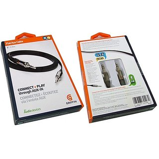 BY1 GET1 FREE Griffin Auxiliary Audio Round Aux Cable (1 Meter)