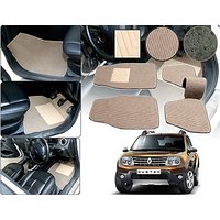Premium Quality 2D Fabric Car Mats With PVC Coating For Renault Duster - Beige