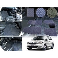 Premium Quality 2D Fabric Car Mats With PVC Coating For Skoda Rapid - Grey