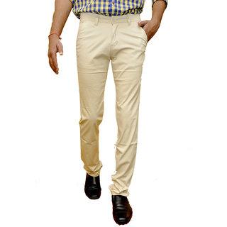 Smartshop Casual Cream Cotton Chinos Trouser