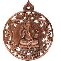 Hyderabadi Abhushan Ganesha Black Metal Wall Hanging Idol