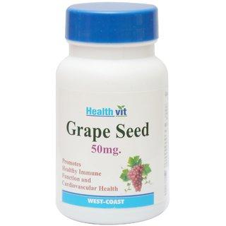 Buy 1 Get 1 Free HealthVit Grape Seed 50 mg Immunity Booster 60 Capsules