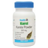 Buy 1 Get 1 Free HealthVit KAREL Karela Powder 300 Mg  60 Capsules (Pack Of 2)