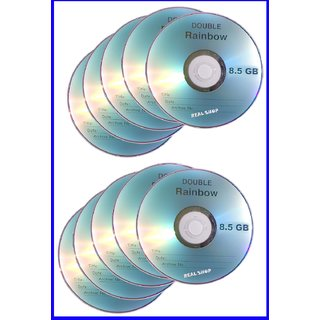 10 Pieces Good Quality 8.5GB Double / Dual Layer Blank DVD