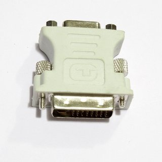 DVI-I 24+5pin Male to 15 pin VGA Female Adapter for Dual Monitor Display