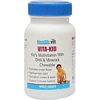 Buy 1 Get 1 Free HealthVit VITA-KID Kid's Multivitamin With DHA &  Minerals 60