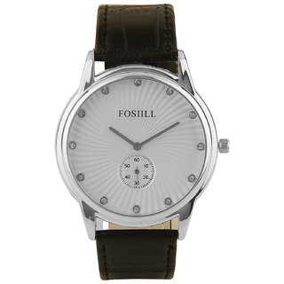 Fos Designer White Dial Watch