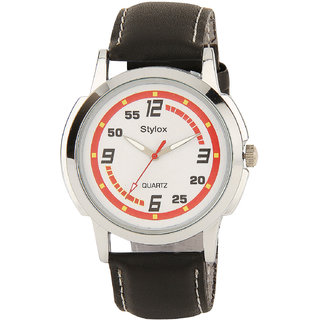 Stylox Smashing Red And White Dial Watch