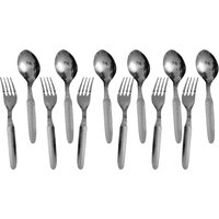 Set Of 12 Stainless Steel Spoons With Forks