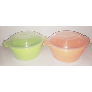 micro fresh  containers set of 2 (orange & green )