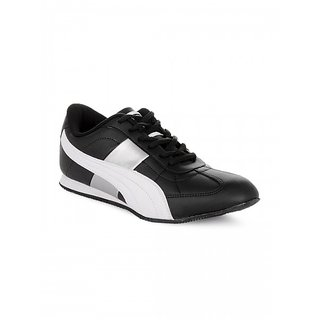 Puma Mens Black And White Casual Shoes 35578802 size 8