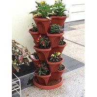 Pots Amp Planters Buy Multicolor Plastic Pot Sets Online