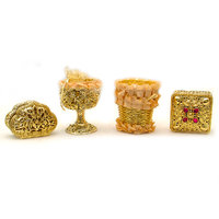 Gift Box Golden Color Set Of 4 Pc