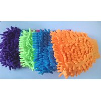 Fiber Gloves, Combo Of 2 Pcs Of Micro Fiber Gloves, Colorful Car Washing Gloves