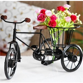Wooden and Iron Flower Stand