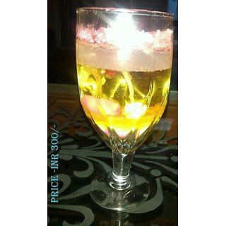 Gel Candle Yellow Pink