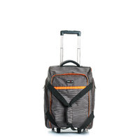 Travelling Bag - Bags With Wheels - Grey & Black Color - By Bags R Us
