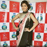Shilpa Shetty Black Beauty Saree