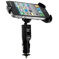 Universal Flexible Car Mount Adjustable Holder With USB Charger For Smartphones