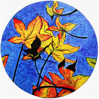 Wall Clock - Round - Multi Color - Maple Marvel - Wooden Wall Clock - Rangrage