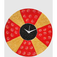 Wall Clock - Round - Multi Color - Vivid Vibrance - Wooden Wall Clock - Rangrage