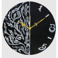 Wall Clock - Round - Multi Color - Dark Mystery - Wooden Wall Clock - Rangrage