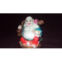 Laughing Buddha -multi Colors Medium Size