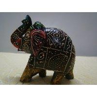Beautiful Wooden Elephant Sculpture Handmade Figurine Home Decor Statue Gift