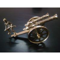 Decorative Brass Cannon Showpiece Home Decor Handicrafts Gift Item With Soldier