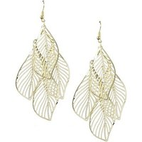 GirlZ! Fashion Big leaves Drop earrings - Cocktail Earrings
