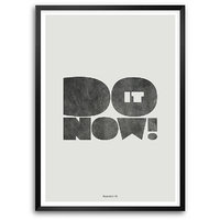 Do It Now Motivating Quotes Typography Framed Posters