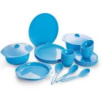 Cello Ware Dinner Set Round (32 Pcs) Blue