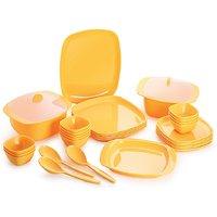 Cello Ware Dinner Set Square (32 Pcs) Yellow